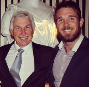 Mick Malthouse and Dane Swan at the NICK Foundation ball.
