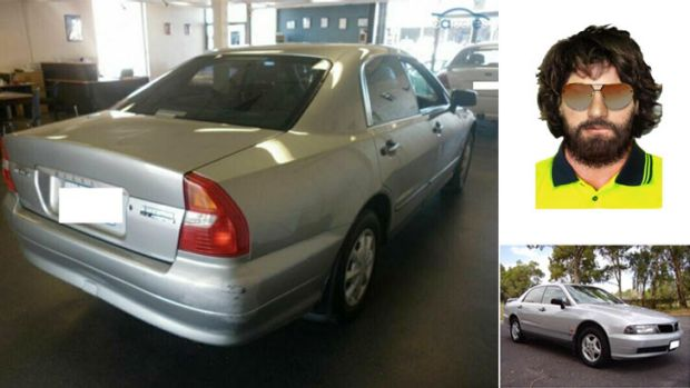 Police are looking for a car similar to the one pictured left and bottom right, and a man, top right, similar to this image.