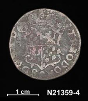 One of the coins found on Wessel Islands, off the Northern Territory coast.