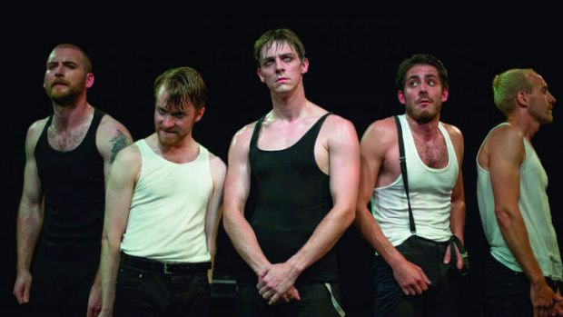 Actors rehearsing for the stage show <i>A Clockwork Orange</i> running at Canberra Theatre for four nights.