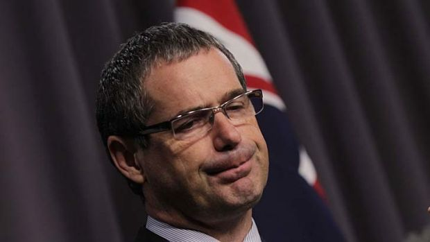 Backing the bookies: Communications Minister Stephen Conroy.