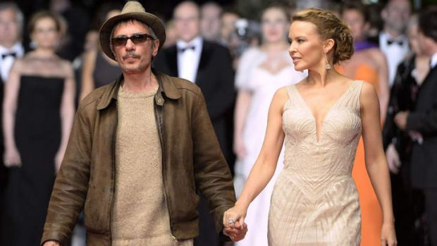 Kylie Minogue and French director Leos Carax in Cannes.