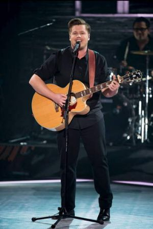 Canberra's Alex Gibson performing on the first live finals of The Voice this week.