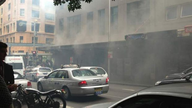 Fire: 1200 people were evacuated from the CBD building.