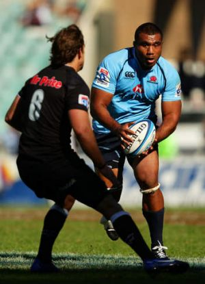 Hard marker: Wycliff Palu says Tahs are building.