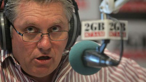 Prone to rage: Ray Hadley.