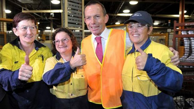 Opposition Leader Tony Abbott at the Ford factory in Geelong in 2011. While highlighting the carbon tax, he admitted ...