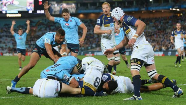 Vindication: Berrick Barnes' try against the Brumbies last week off a nice exchange with Michael Hooper was evidence ...