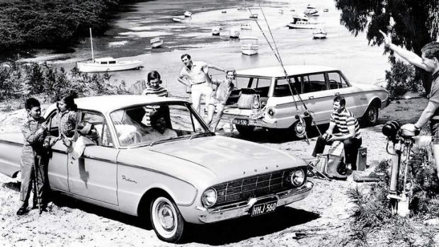 Early advertising for the Ford Falcon.