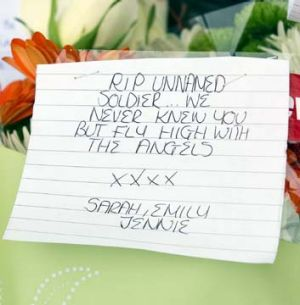 Tributes for slain soldier: Victim was attacked just after 2pm outside a military barracks in Woolwich.