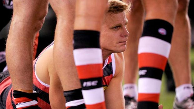 Improved: Nick Riewoldt (pictured) and Adam Cooney have both undergone knee treatment.
