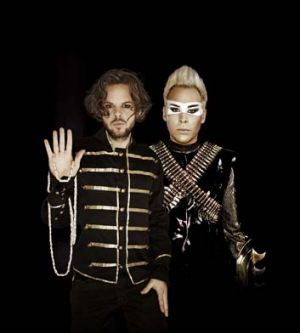 Higher power: Nick Littlemore (left) and Luke Steele employ a rich, biblical-style mythology on their new album, <i>Ice ...