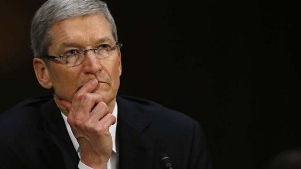 Apple CEO Tim Cook faces the US Senate hearing.