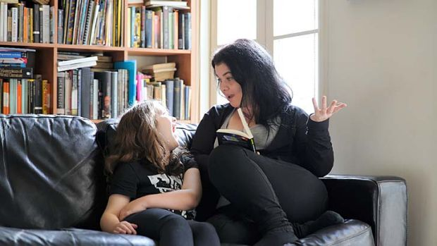 Adventures: Amy Gray and daughter, Aurora enjoying Hitchhiker's Guide to the Galaxy. Photo: Jesse Booher