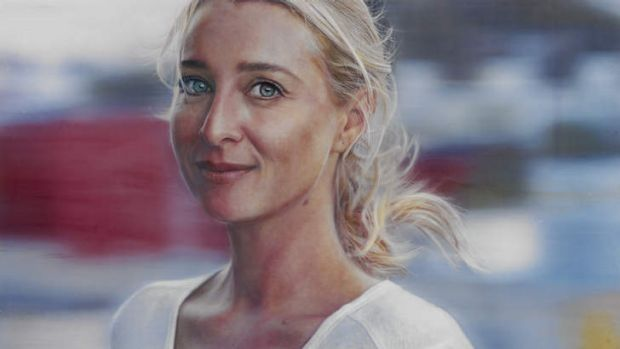 <i>Love Face</i> by Vincent Fantauzzo. Oil on linen, 174 cm x 304 cm.