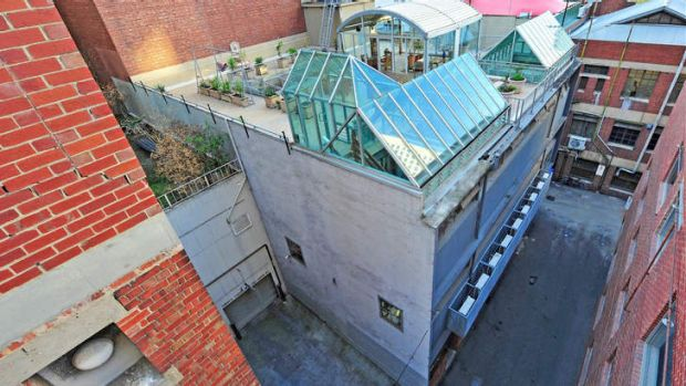 Tucked away: Desmond Oppenheimer has put his city house, 6 Kirks Lane, on the market for $3 million.