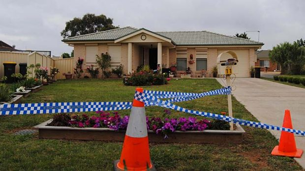 The Goulburn home where Terrence Kain strangled his mother.