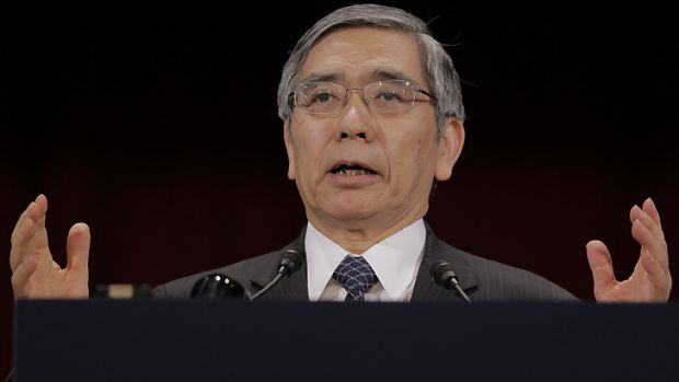 Bank of Japan Governor Haruhiko Kuroda ... speaking at a Tokyo conference today.