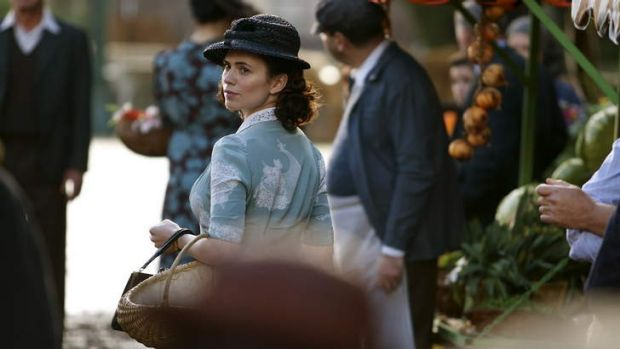 Wearing it well: Hayley Atwell stars in <i>Restless</i> on Foxtel.