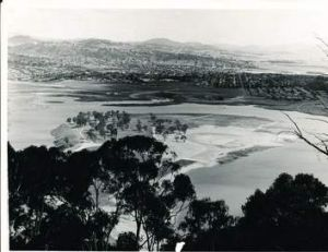 Lake Burley Griffin in the early stages of development.