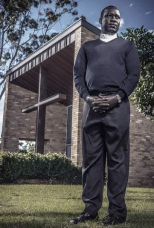 Deacon Ladu Yanga at the Holy Spirit Seminary in Queensland.
