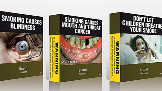 Cigarette packaging is deliberately unappealing.