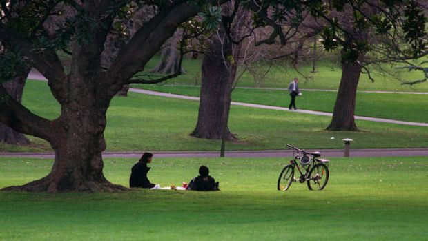 The amount of green space can influence people's health.