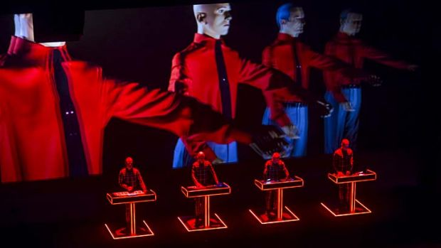 Timeless: Kraftwerk lighting up the stage as part of their four night run for Vivid Live.