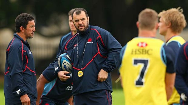 """What's important is that we never make the same mistake again"": Waratahs coach Michael Cheika, centre."
