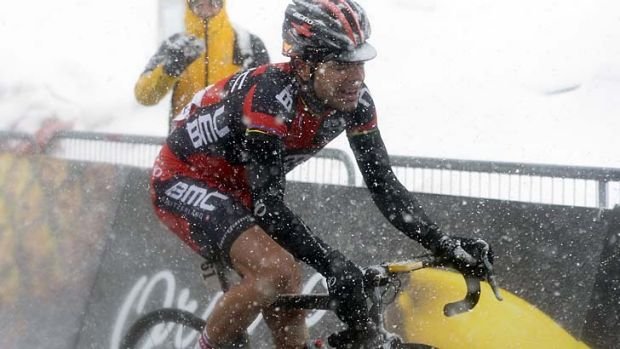Cadel Evans finished third at this year's Giro d'Italia despite trying conditions.