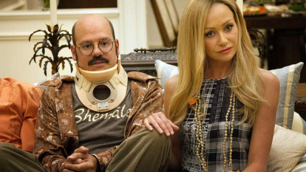 David Cross, left, and Portia de Rossi in a scene from the new season of <i>Arrested Development</i>.