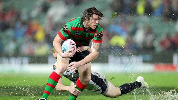 New kid on the block ... Rabbitohs star Chris McQueen will join the Maroons squad for the first time.