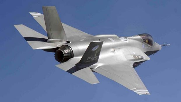 Troubled: a F-35 Joint Strike Fighter.
