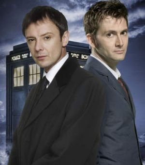 John Simm played The Master and David Tennant had the role of The Doctor in <i>Doctor Who</i> in 2007.