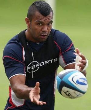 Set for the Galloping Greens: Kurtley Beale is tipped to start off the bench for Randwick against Sydney University.
