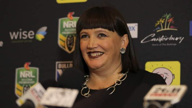 Best person for the job: Raelene Castle is the first female chief executive of  the Bulldogs. Photo: Kate Geraghty
