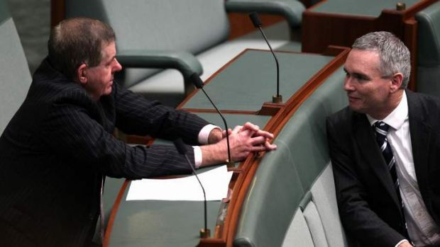 The support of crossbench MPs Peter Slipper and Craig Thomson may be crucial to the survival of Kevin Rudd's government.