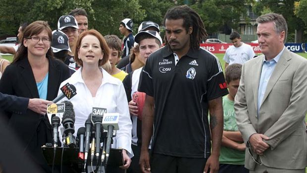 Parliamentary Secretary for Immigration and Multicultural Affairs Kate Lundy, Prime Minister Julia Gillard, Collingwood ...