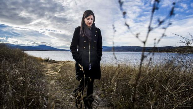 Sister of missing student Prabhdeep Srawn, Mandeep, at Lake Jindabyne.
