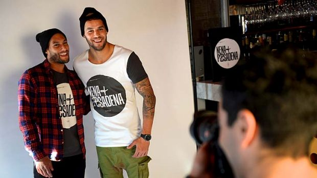 Lance Franklin and Josh Gibson celebrate the third birthday of one of fashion label Nena & Pasadena.