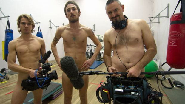 The crew of the mini-doc program <i>Vive Cool City</i>, from left to right: Jesse Martin (the round-the-world ...