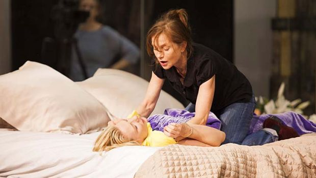 Intense: Cate Blanchett and Isabelle Huppert during rehearsals for <i>The Maids</i>.
