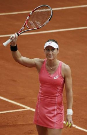 Straight sets: Sam Stosur is through to the third round at Roland Garros.