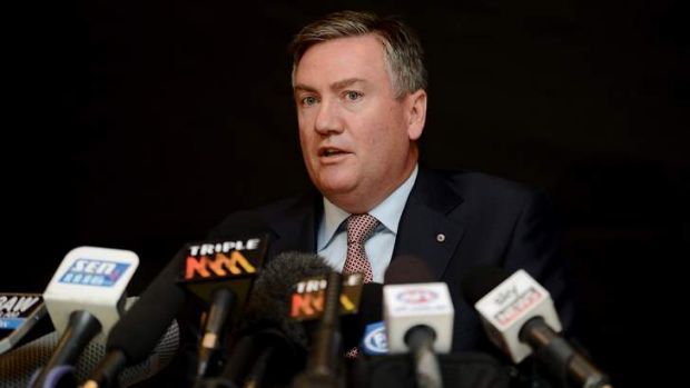 Facing the music: Eddie McGuire's press conference on Wednesday did little to diffuse the furore surrounding his King ...