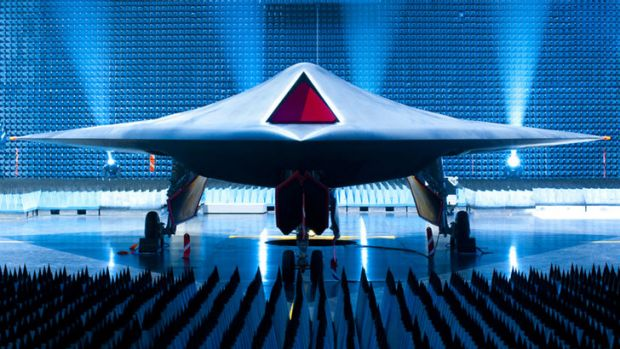 BAE's Taranis is a prototype unmanned combat aircraft, with a stealthy profile that (with a human operator) can hit ...