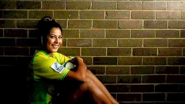 ''It's a big step up'': Schoolgirl Tiana Penitani is the youngest player to represent Australia in senior rugby.