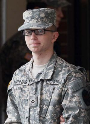On trial: Manning.