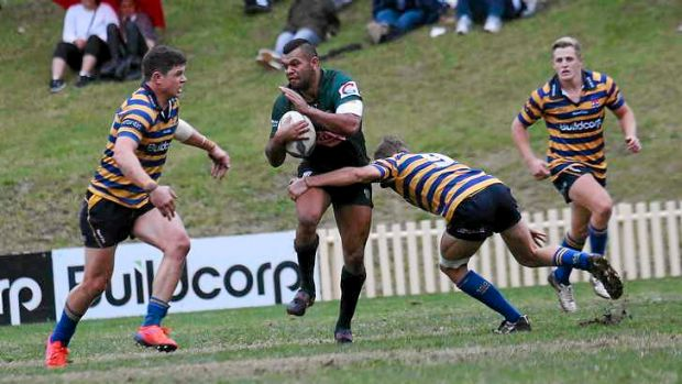 Comeback: Wallabies star Kurtley Beale, in action in his first game for Randwick since being stood down by the Rebels.