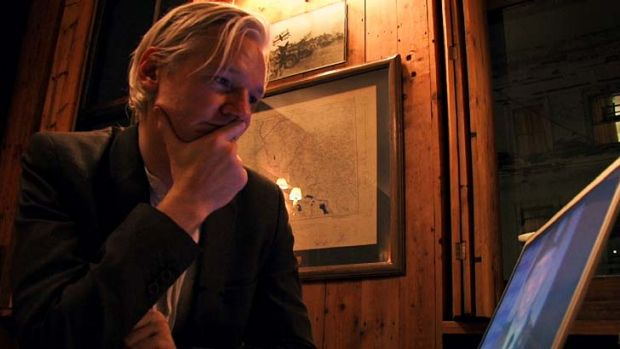 Unimpressed: Julian Assange is not happy with the documentary, <em>We Steal Secrets: The Story of WikiLeaks.</em>