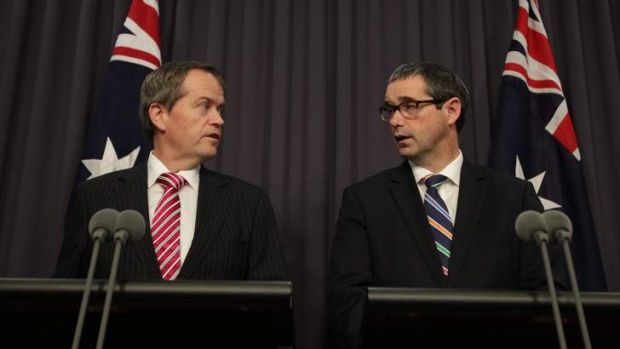 """''I take Bill on his word"""": Senator Stephen Conroy says he believes Bill Shorten's publicly stated support for Prime ..."""